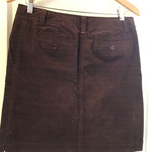 Lilly Pulitzer Brown corduroy skirt